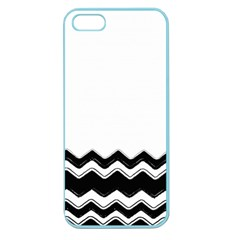 Chevrons Black Pattern Background Apple Seamless Iphone 5 Case (color)