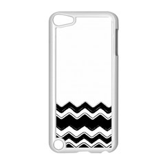 Chevrons Black Pattern Background Apple Ipod Touch 5 Case (white)