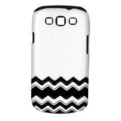 Chevrons Black Pattern Background Samsung Galaxy S III Classic Hardshell Case (PC+Silicone)