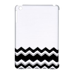 Chevrons Black Pattern Background Apple Ipad Mini Hardshell Case (compatible With Smart Cover)