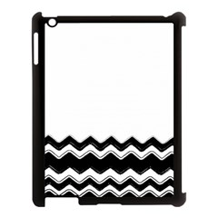 Chevrons Black Pattern Background Apple Ipad 3/4 Case (black)