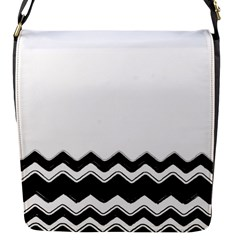 Chevrons Black Pattern Background Flap Messenger Bag (s)