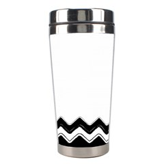 Chevrons Black Pattern Background Stainless Steel Travel Tumblers