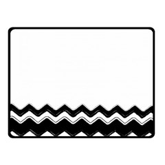 Chevrons Black Pattern Background Double Sided Fleece Blanket (small)