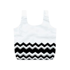 Chevrons Black Pattern Background Full Print Recycle Bags (s)