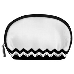 Chevrons Black Pattern Background Accessory Pouches (large)