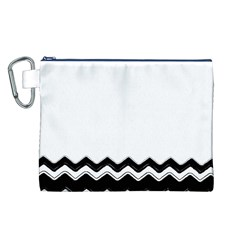 Chevrons Black Pattern Background Canvas Cosmetic Bag (l)
