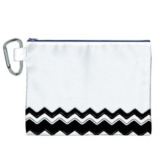 Chevrons Black Pattern Background Canvas Cosmetic Bag (xl)