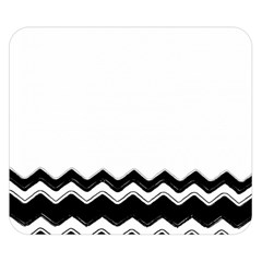 Chevrons Black Pattern Background Double Sided Flano Blanket (small)