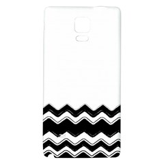 Chevrons Black Pattern Background Galaxy Note 4 Back Case