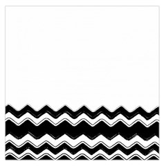 Chevrons Black Pattern Background Large Satin Scarf (square)