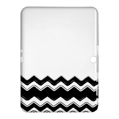 Chevrons Black Pattern Background Samsung Galaxy Tab 4 (10.1 ) Hardshell Case