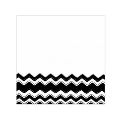 Chevrons Black Pattern Background Small Satin Scarf (square)