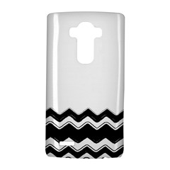 Chevrons Black Pattern Background LG G4 Hardshell Case