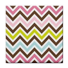 Chevrons Stripes Colors Background Tile Coasters