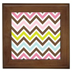 Chevrons Stripes Colors Background Framed Tiles