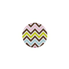 Chevrons Stripes Colors Background 1  Mini Magnets