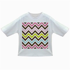 Chevrons Stripes Colors Background Infant/toddler T Shirts