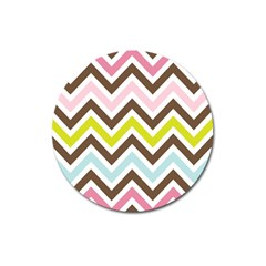 Chevrons Stripes Colors Background Magnet 3  (round)
