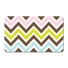 Chevrons Stripes Colors Background Magnet (rectangular)