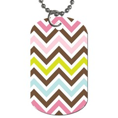 Chevrons Stripes Colors Background Dog Tag (one Side)