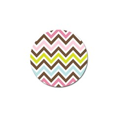 Chevrons Stripes Colors Background Golf Ball Marker