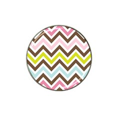 Chevrons Stripes Colors Background Hat Clip Ball Marker (4 Pack)