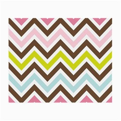 Chevrons Stripes Colors Background Small Glasses Cloth