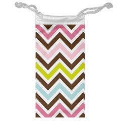 Chevrons Stripes Colors Background Jewelry Bag