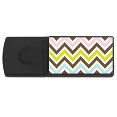 Chevrons Stripes Colors Background USB Flash Drive Rectangular (4 GB)
