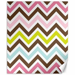 Chevrons Stripes Colors Background Canvas 8  X 10