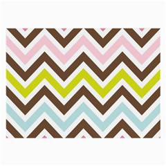 Chevrons Stripes Colors Background Large Glasses Cloth (2 Side)