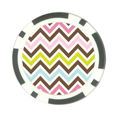 Chevrons Stripes Colors Background Poker Chip Card Guard