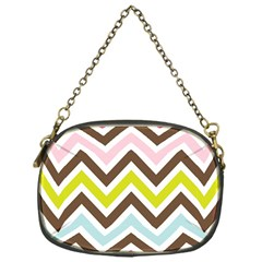 Chevrons Stripes Colors Background Chain Purses (one Side)