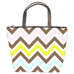 Chevrons Stripes Colors Background Bucket Bags