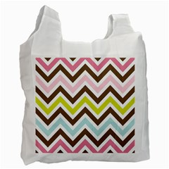 Chevrons Stripes Colors Background Recycle Bag (two Side)