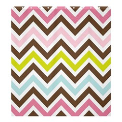 Chevrons Stripes Colors Background Shower Curtain 66  X 72  (large)