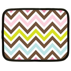 Chevrons Stripes Colors Background Netbook Case (xxl)