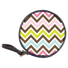 Chevrons Stripes Colors Background Classic 20 Cd Wallets