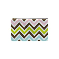 Chevrons Stripes Colors Background Cosmetic Bag (small)