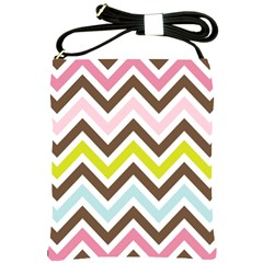 Chevrons Stripes Colors Background Shoulder Sling Bags