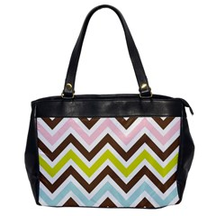 Chevrons Stripes Colors Background Office Handbags