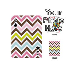 Chevrons Stripes Colors Background Playing Cards 54 (mini)