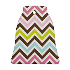 Chevrons Stripes Colors Background Bell Ornament (Two Sides)