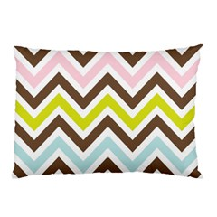 Chevrons Stripes Colors Background Pillow Case (two Sides)