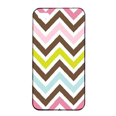 Chevrons Stripes Colors Background Apple Iphone 4/4s Seamless Case (black)