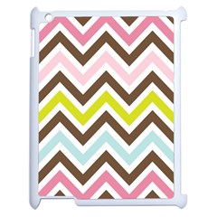 Chevrons Stripes Colors Background Apple Ipad 2 Case (white)