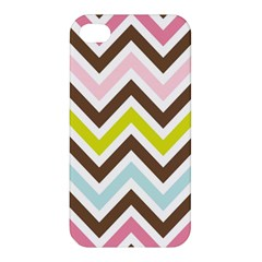 Chevrons Stripes Colors Background Apple Iphone 4/4s Hardshell Case