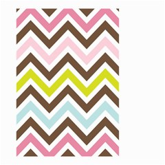Chevrons Stripes Colors Background Small Garden Flag (two Sides)
