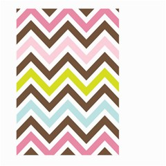 Chevrons Stripes Colors Background Large Garden Flag (two Sides)
